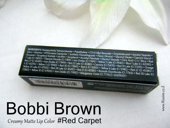 Bobbi Brown creamy matte lip color #Red Carpet