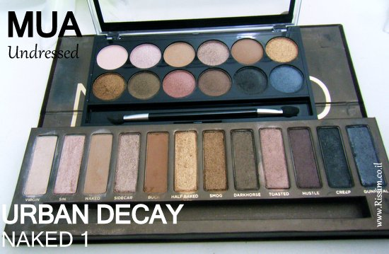 mua undressed palette VS Urban Decay NAKED