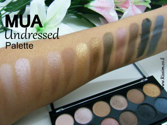 mua undressed palette swatches
