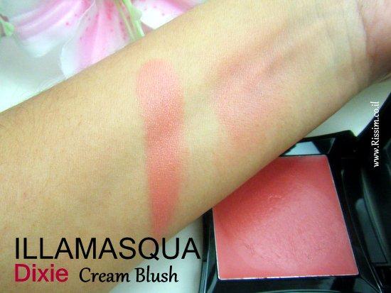 Illamasqua DIXIE cream blush swatches 2