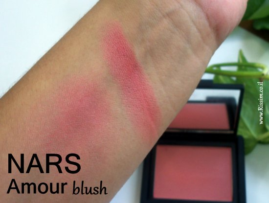 NARS Amour blush swatches