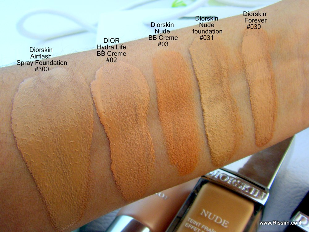 DIOR foundation swatches1