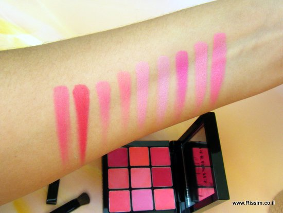 givenchy prismissime euphoric pink lip & cheek palette swatches