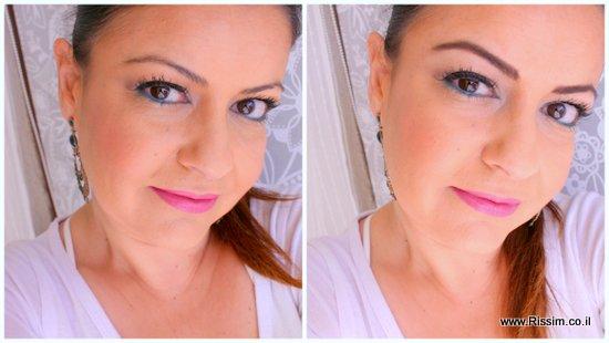 איפור גבות לפני ואחרי