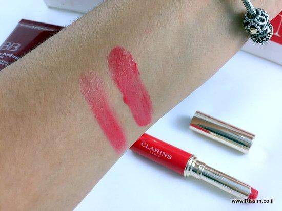 שפתון אדום מטפח של קלרינס