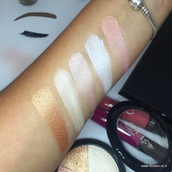 OFRA BEVERLY HILLS HIGHLIGHTER SWATCHES