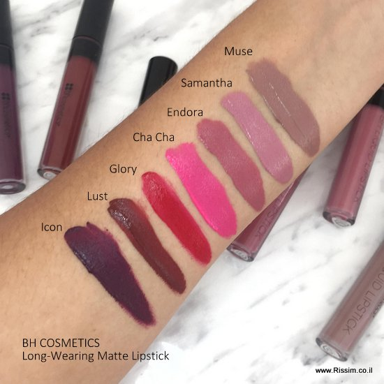 BH Cosmetics Long Wearing Matte Lipstick swatches