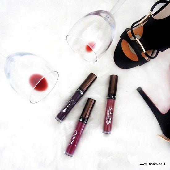 שפתונים נוזליים עמידים של OFRA קולקציית היין