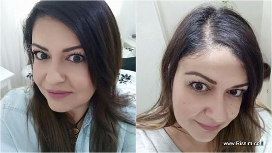 צבע שיער קולור ספשיאליסט של שוורצקופף - לפני ואחרי