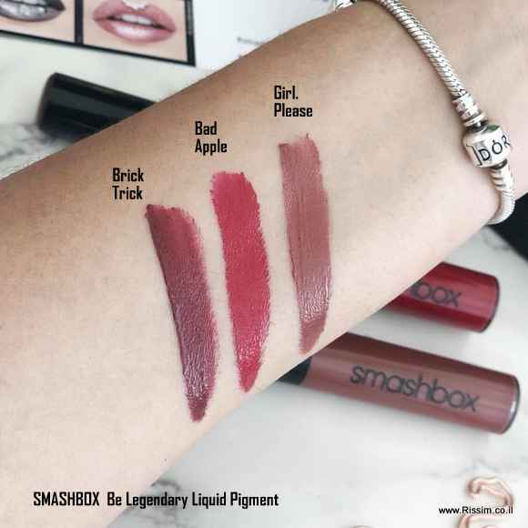 Smashbox Be Legendary liquid pigment swatches