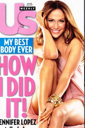 Jennifer Lopez on Us Weekly Cover