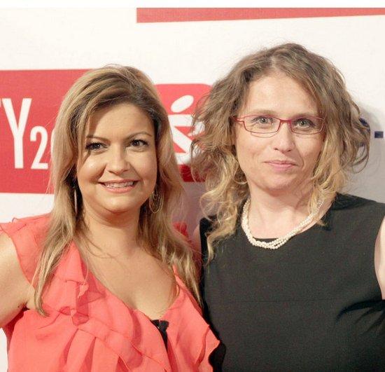 ביוטי סיטי 2011 - עם מרינה גולדשטיין מהבלוג שגיאות. זה הצבע האמיתי של השמלה, בניגוד לתמונה הקודמת. צילום: רפי דלויה