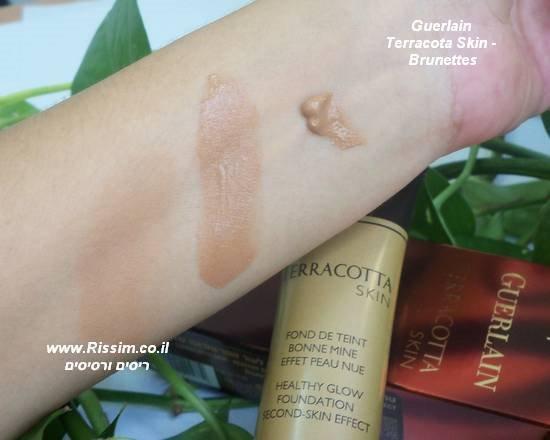 Guerlain Terracota Skin Brunettes swatches