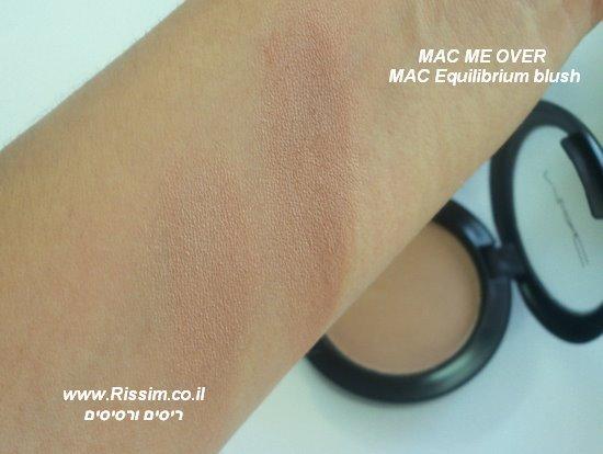 MAC ME OVER -  MAC Equilibrium blush swatches