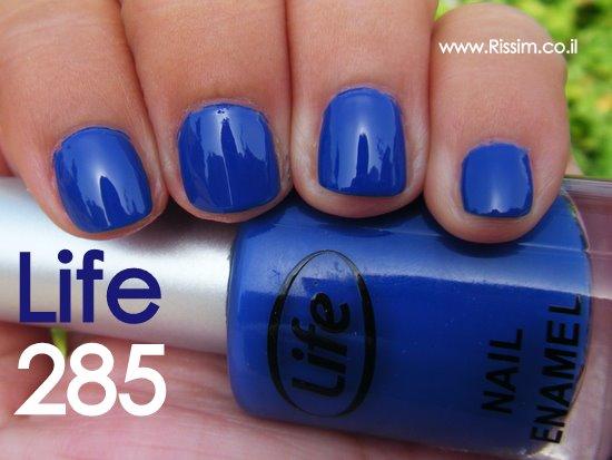 לק כחול של לייף - Life 285