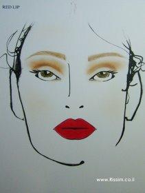 המראה השני שהוצג - שפתיים אדומות
