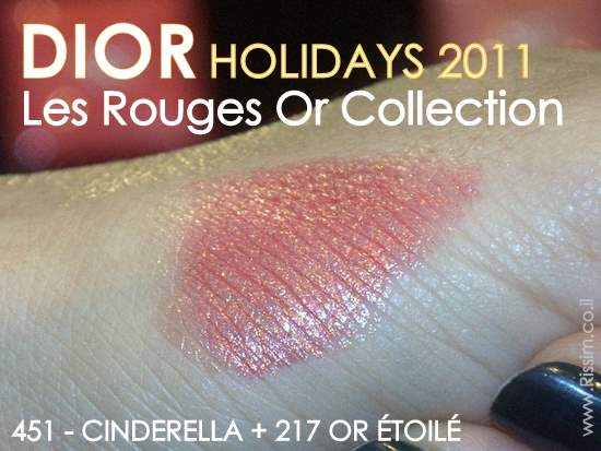 DIOR HOLIDAYS 2011 Les Rouges Or 451 cinderela swatch