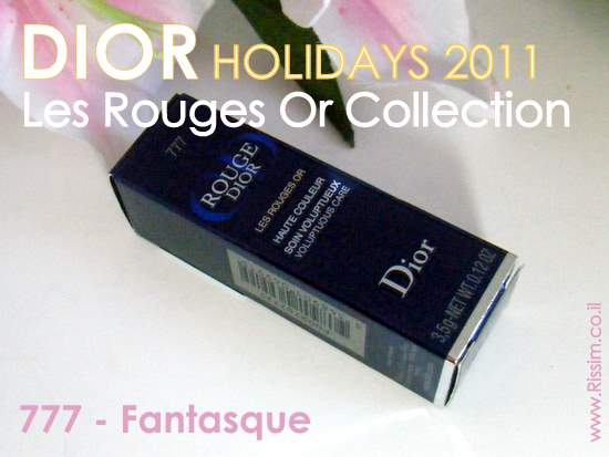 DIOR HOLIDAYS 2011 Les Rouges Or 777 Fantasque