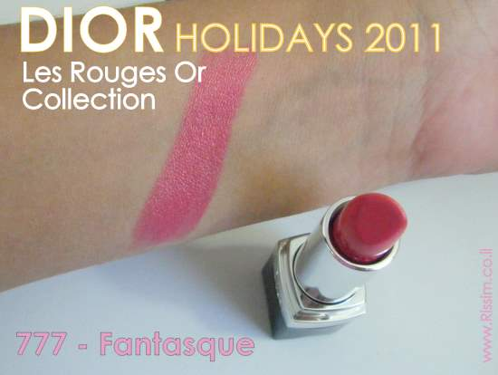 DIOR Les Rouges Or - DIOR ROUGE 777 FANTASQUE SWATCHES