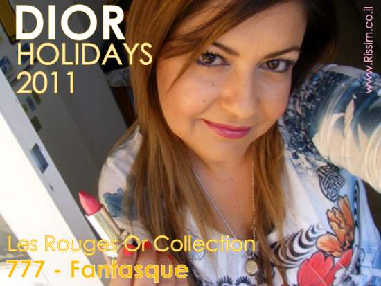 DIOR HOLIDAYS 2011 Les Rouges Or 777 Fantasque swatches on lips