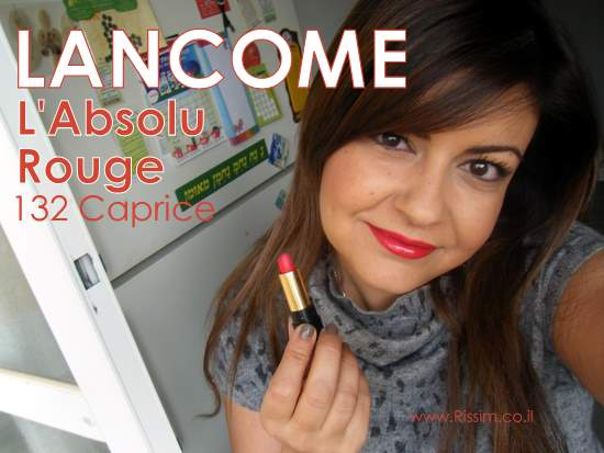 Lancome L'Absolu Rouge 132 Caprice swatches on lips