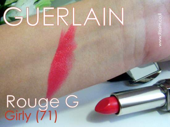 Rouge G de Guerlain 71 Girly swatches