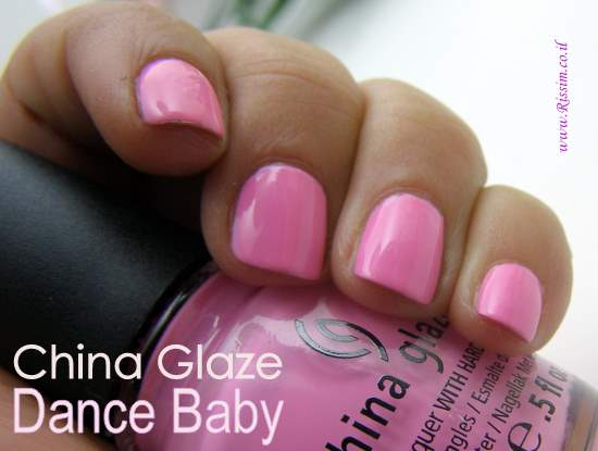 China Glaze Dance Baby swatches