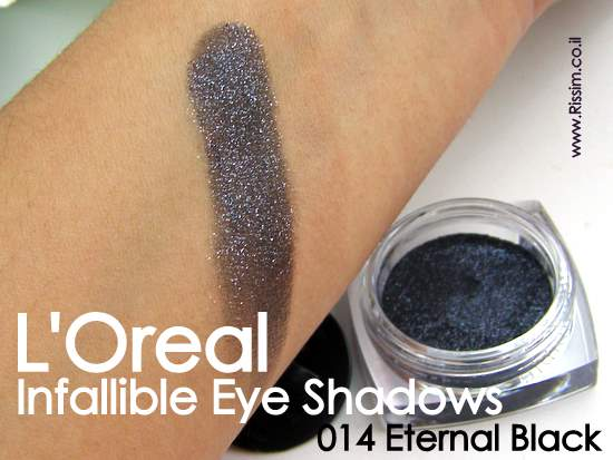 LOreal Infallible Eyeshadows 14 Eternal Black swatches
