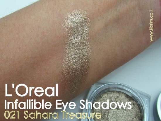 LOreal Infallible Eyeshadows 21 Sahara Treasure swatches