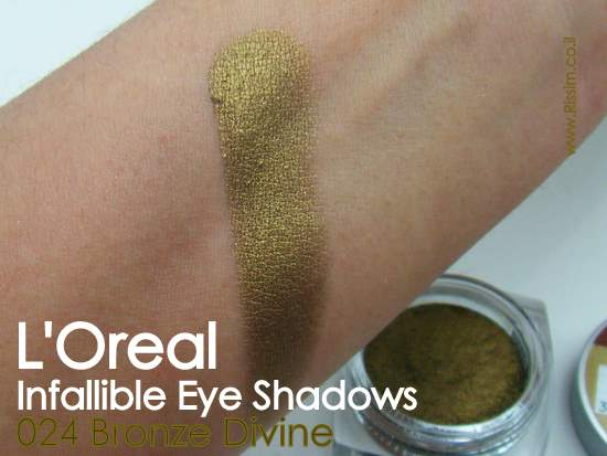 LOreal Infallible Eyeshadows 24 Bronze Divine swatches