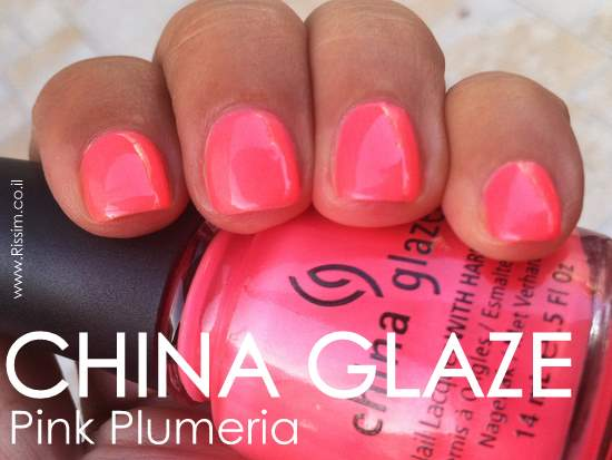 CHINA GLAZE Pink Plumeria swatches