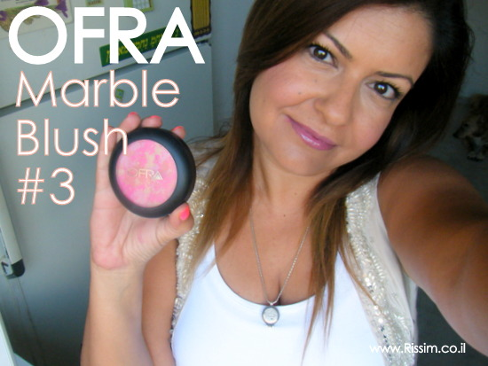 my makeup with OFRA marble blush
