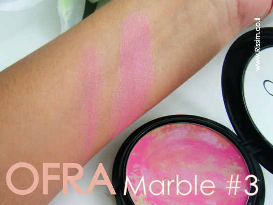 OFRA COSMETICS MARBLE BLUSH SWATCHES