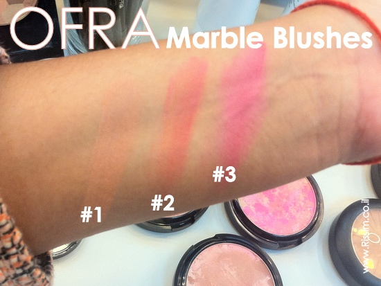 OFRA COSMETICS MARBLE BLUSHES SWATCHES