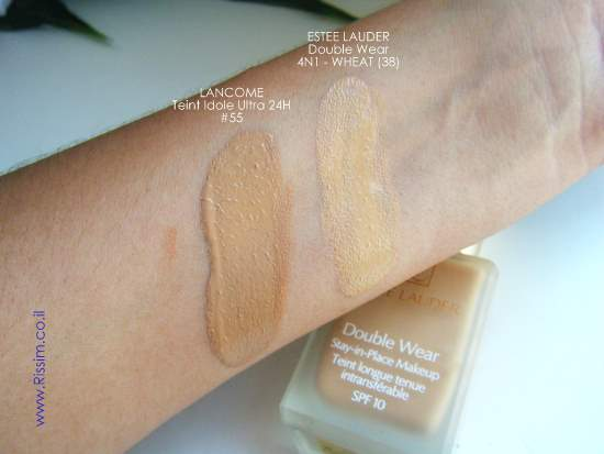 ESTEE LAUDER Double Wear Stay In Place Foundation # 38 wheat swatches