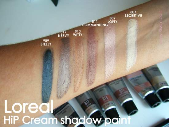 LOREAL HIP CREAM SHADOW PAINT SWATCHES
