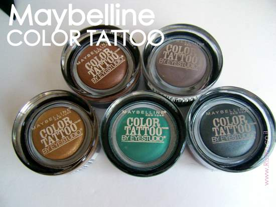 Maybeline Color Tattoo Cream Gel Eyeshadows