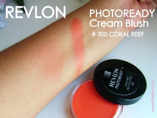 REVLON PHOTOREADY Cream Blush 300 coral reef swatches