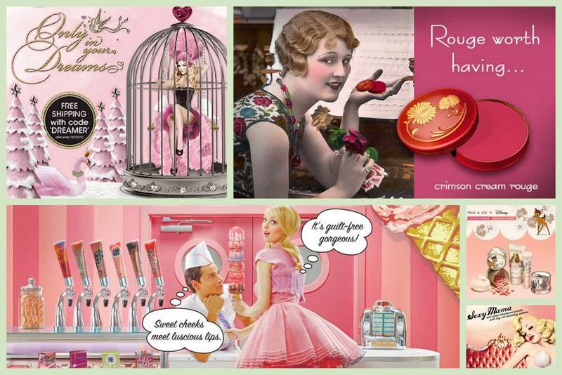 VINTAGE INSPIRED ADS BY BENEFIT TOO FACED ETC