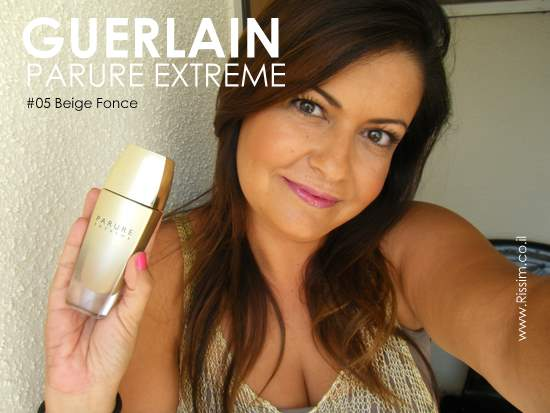 GUERLAIN PARURE EXTREME FOUNDATION #05 swatches on face