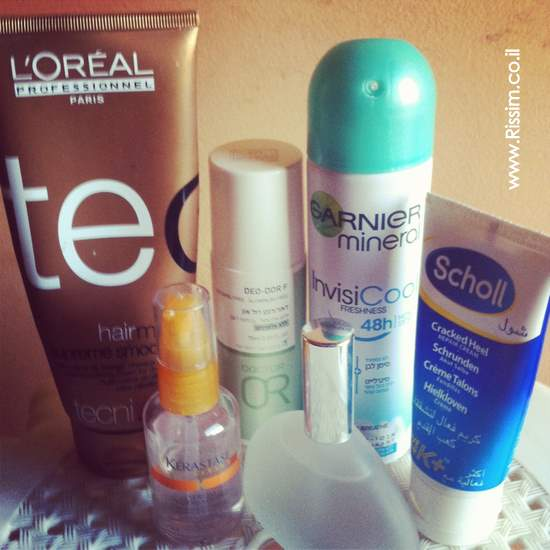 body and hair care products
