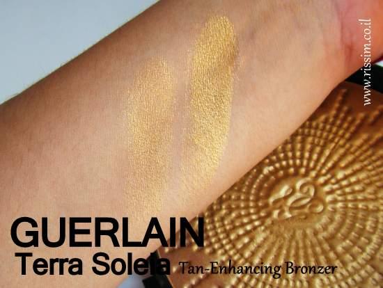 Guerlain Terra Soleia Tan Enhancing Bronzer swatches