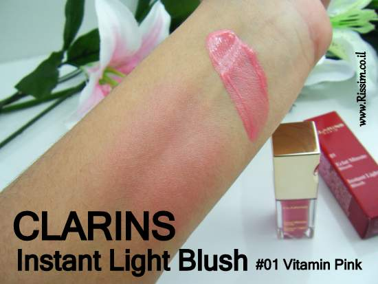 clarins instant light blush 01-vitamin pink
