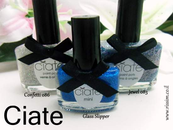 CIATE Confetti, jewel and Glass Slipper