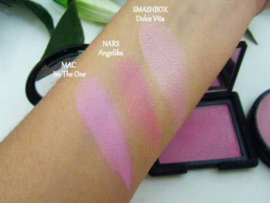 MAC Glamour Daze Collection I'm the one blush swatches