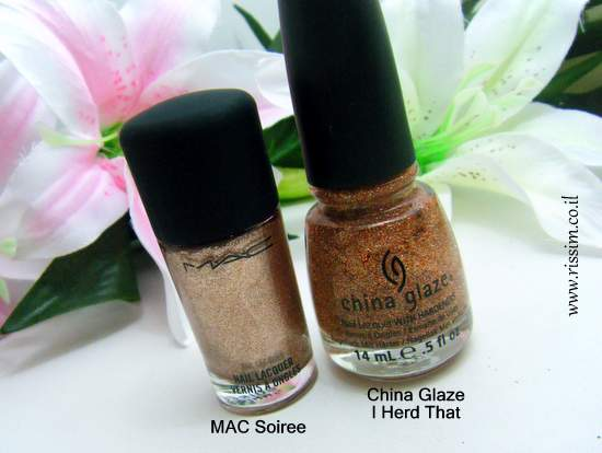 MAC Soiree and China Glaze I Herd That