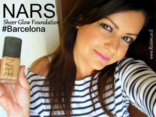 NARS Sheer Glow Foundation #Barcelona on face