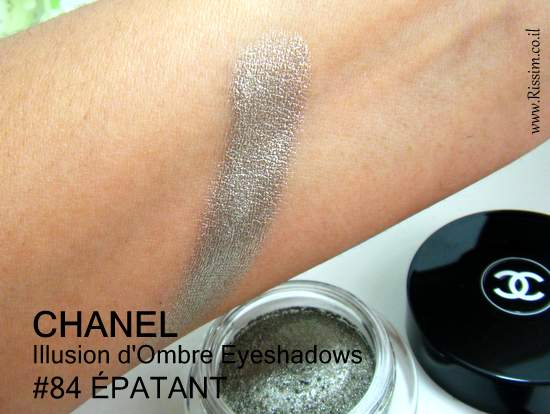 CAHNEL Illusion d'Ombre Eyeshadows 84 ÉPATANT swatches
