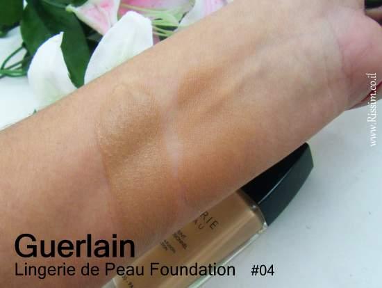 Guerlain Lingerie de Peau Foundation #4 swatches