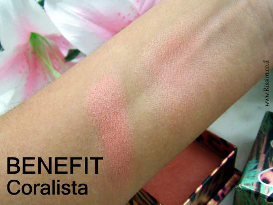 BENEFIT Coralista swatches